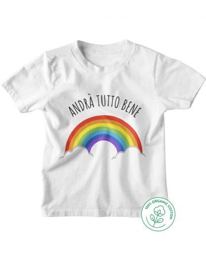white t-shirt with rainbow