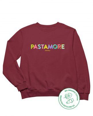 burgundy pasta amore sweatshirt