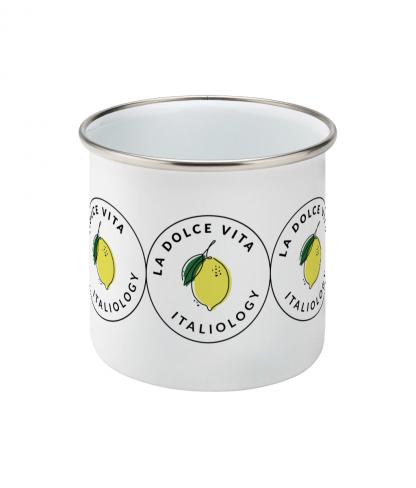 la dolce vita enamel mug - front