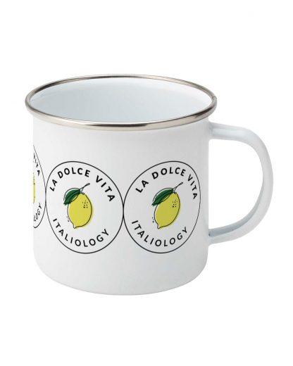 la dolce vita enamel mug