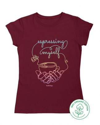 burgundy espresso rainbow t-shirt