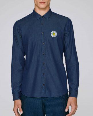 jeans denim shirt - front