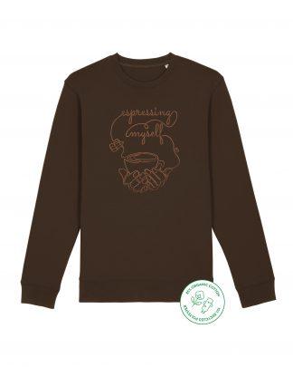 dark brown espresso sweatshirt