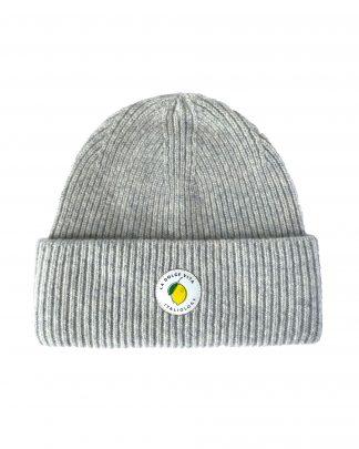 grey pure wool beanie