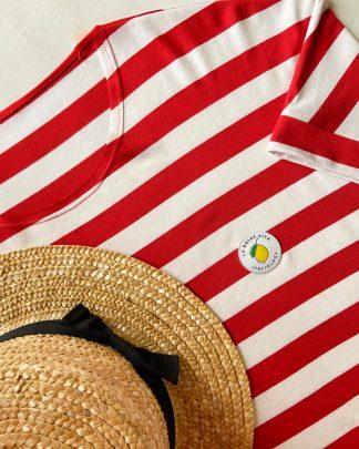 red striped tshirt